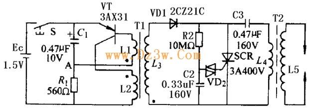 电子点火器电路图及工作原理分析